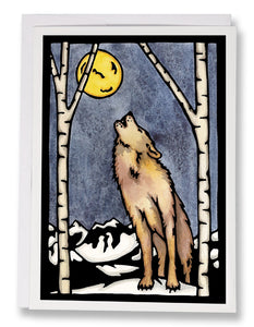 SA003: Wolf - Sarah Angst Art Greeting Cards, Giclee Prints, Jewelry, More