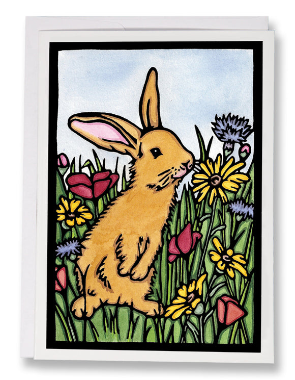 SA004: Bunny - Sarah Angst Art Greeting Cards, Giclee Prints, Jewelry, More