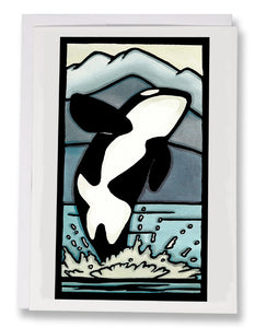 SA009: Orca - Sarah Angst Art Greeting Cards, Giclee Prints, Jewelry, More