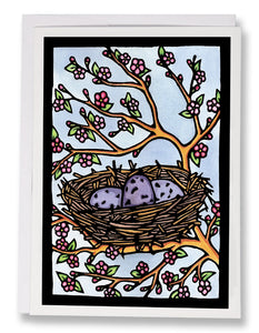 SA010: Nest - Sarah Angst Art Greeting Cards, Giclee Prints, Jewelry, More