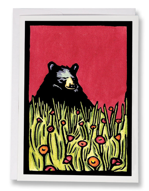 SA011: Naptime Bear - Sarah Angst Art Greeting Cards, Giclee Prints, Jewelry, More