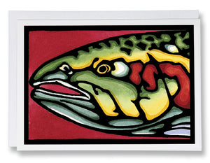 Head Shot Fish - 014 - Sarah Angst Art Greeting Cards, Giclee Prints, Jewelry, More