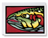 SA014: Head Shot Fish - Sarah Angst Art Greeting Cards, Giclee Prints, Jewelry, More