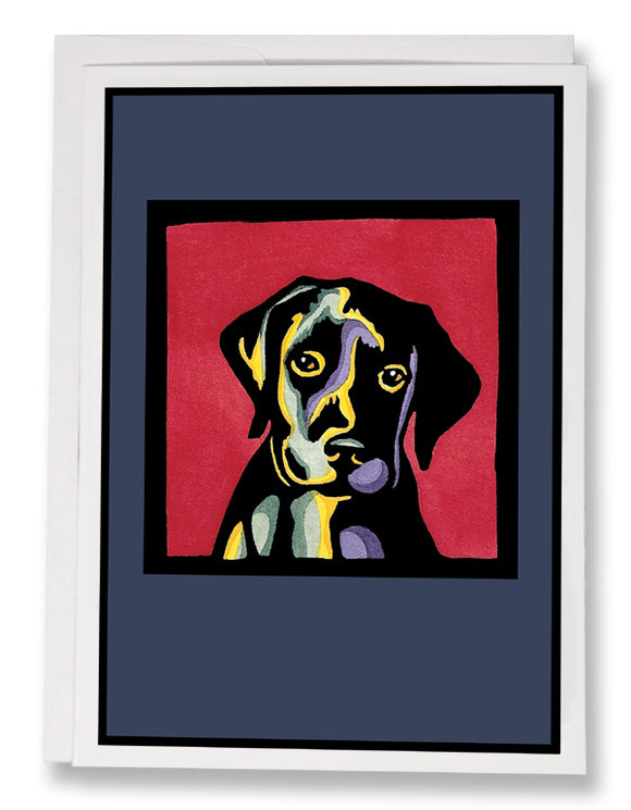 SA022: Puppy Dog Eyes - Sarah Angst Art Greeting Cards, Giclee Prints, Jewelry, More
