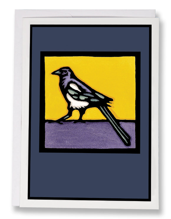 SA024: Magpie - Sarah Angst Art Greeting Cards, Giclee Prints, Jewelry, More