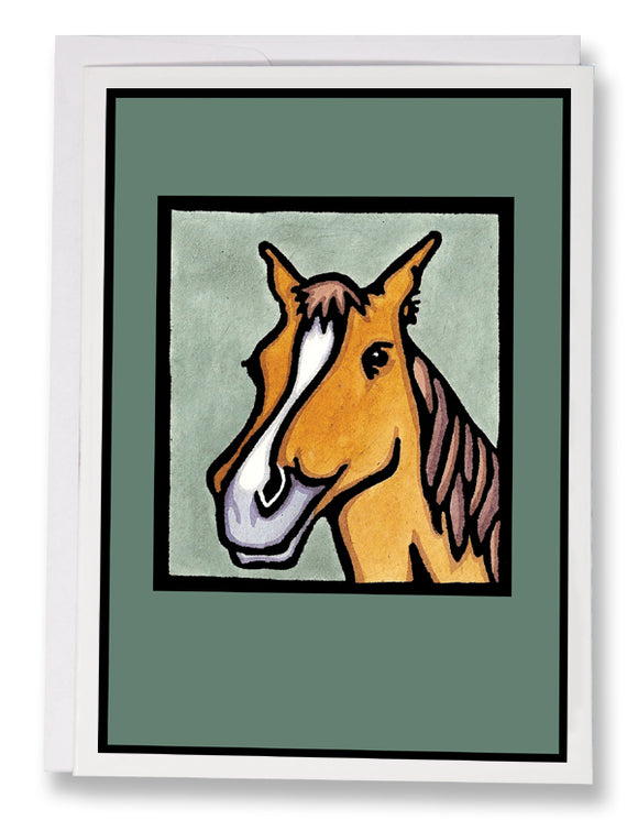 SA028: Pretty Pony - Sarah Angst Art Greeting Cards, Giclee Prints, Jewelry, More