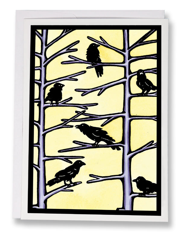 Crows - Sarah Angst Art Greeting Cards, Giclee Prints, Jewelry, More