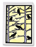 SA030: Crows - Sarah Angst Art Greeting Cards, Giclee Prints, Jewelry, More