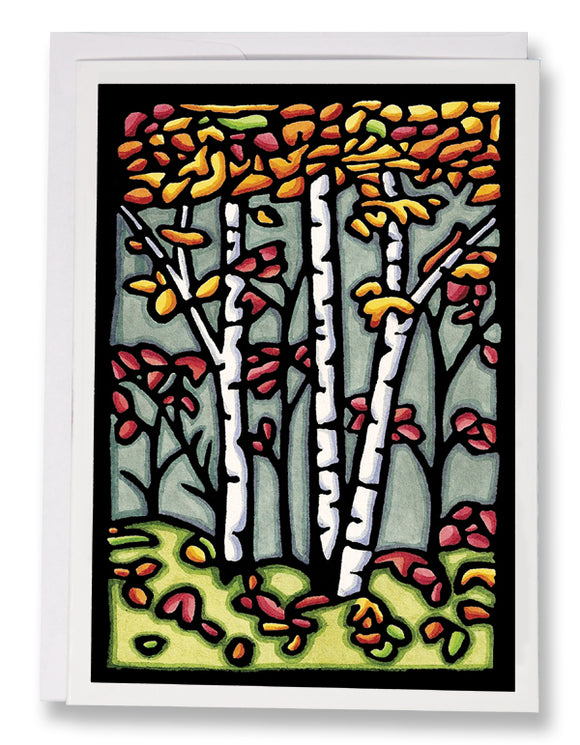 SA033: Autumn Woods - Sarah Angst Art Greeting Cards, Giclee Prints, Jewelry, More