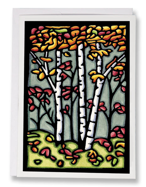 Autumn Woods - Sarah Angst Art Greeting Cards, Giclee Prints, Jewelry, More