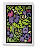 SA034: Blueberries - Sarah Angst Art Greeting Cards, Giclee Prints, Jewelry, More