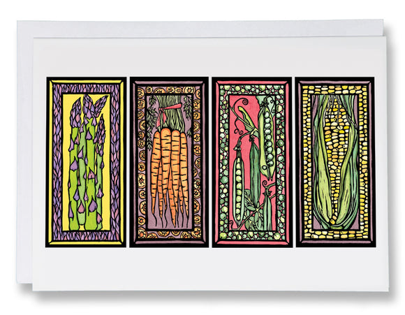 Veggies - 036 - Sarah Angst Art Greeting Cards, Giclee Prints, Jewelry, More