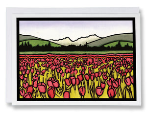 SA037: Field of Tulips - Sarah Angst Art Greeting Cards, Giclee Prints, Jewelry, More
