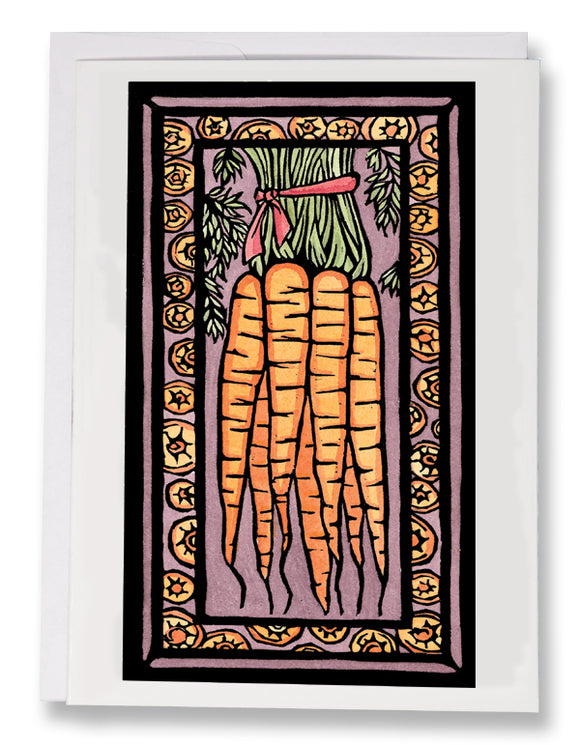 SA040: Carrots - Sarah Angst Art Greeting Cards, Giclee Prints, Jewelry, More