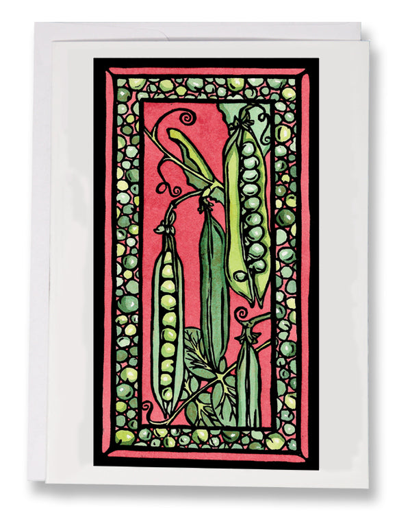SA041: Peas - Sarah Angst Art Greeting Cards, Giclee Prints, Jewelry, More