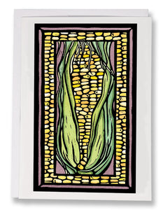 SA042: Corn - Sarah Angst Art Greeting Cards, Giclee Prints, Jewelry, More