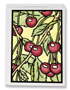 SA043: Cherries - Sarah Angst Art Greeting Cards, Giclee Prints, Jewelry, More
