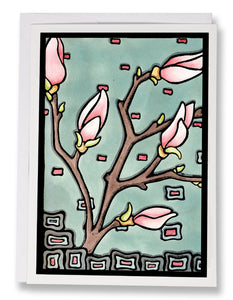 SA047: Magnolia - Sarah Angst Art Greeting Cards, Giclee Prints, Jewelry, More