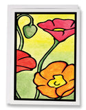 SA048: Poppies - Sarah Angst Art Greeting Cards, Giclee Prints, Jewelry, More