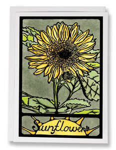 SA051: Sunflower - Sarah Angst Art Greeting Cards, Giclee Prints, Jewelry, More