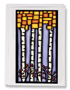 Square Birch - 053 - Sarah Angst Art Greeting Cards, Giclee Prints, Jewelry, More