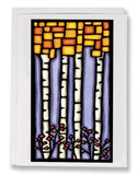 SA053: Square Birch - Sarah Angst Art Greeting Cards, Giclee Prints, Jewelry, More