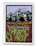 SA057: The Tetons - Sarah Angst Art Greeting Cards, Giclee Prints, Jewelry, More