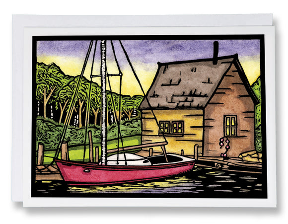 SA060: Waiting to Sail - Sarah Angst Art Greeting Cards, Giclee Prints, Jewelry, More