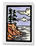 Rocky Shore - 062 - Sarah Angst Art Greeting Cards, Giclee Prints, Jewelry, More