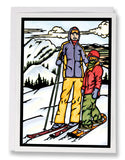 Skiing - Sarah Angst Art Greeting Cards, Giclee Prints, Jewelry, More