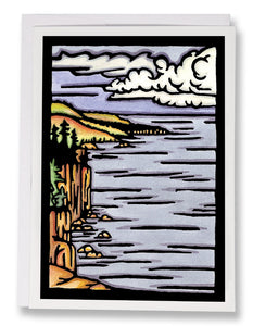 SA065: Autumn On The Lake - Sarah Angst Art Greeting Cards, Giclee Prints, Jewelry, More
