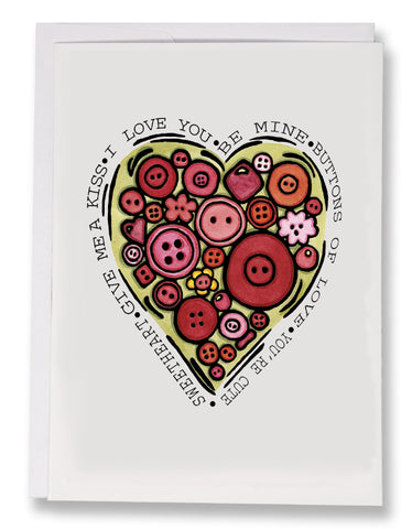 Buttons Of Love - Sarah Angst Art Greeting Cards, Giclee Prints, Jewelry, More