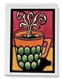 SA077: Coffee - Sarah Angst Art Greeting Cards, Giclee Prints, Jewelry, More
