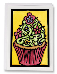 Cupcake - Sarah Angst Art Greeting Cards, Giclee Prints, Jewelry, More