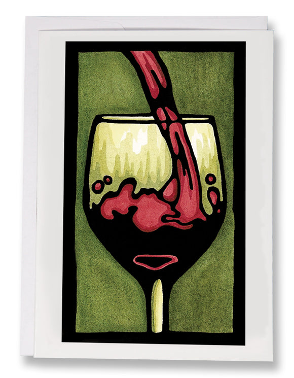 SA080: Pour Me Another - Sarah Angst Art Greeting Cards, Giclee Prints, Jewelry, More