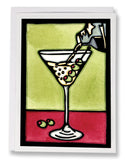 SA083: Dirty Martini - Sarah Angst Art Greeting Cards, Giclee Prints, Jewelry, More