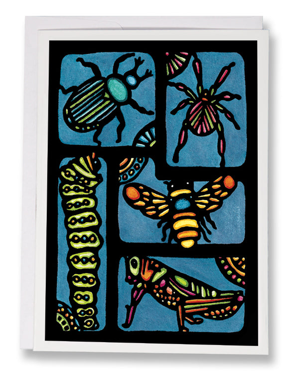 SA099: Insects - Sarah Angst Art Greeting Cards, Giclee Prints, Jewelry, More