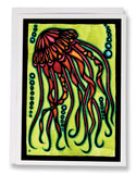 SA100: Jellyfish - Sarah Angst Art Greeting Cards, Giclee Prints, Jewelry, More