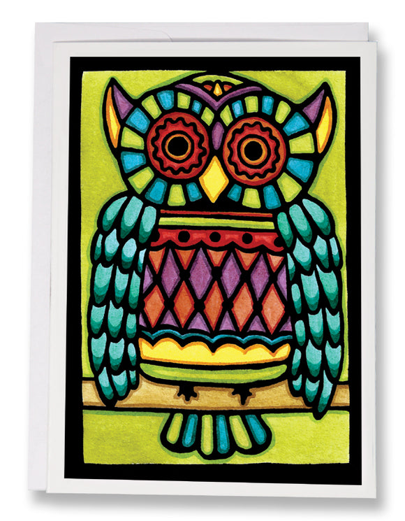 SA101: Owl - Sarah Angst Art Greeting Cards, Giclee Prints, Jewelry, More