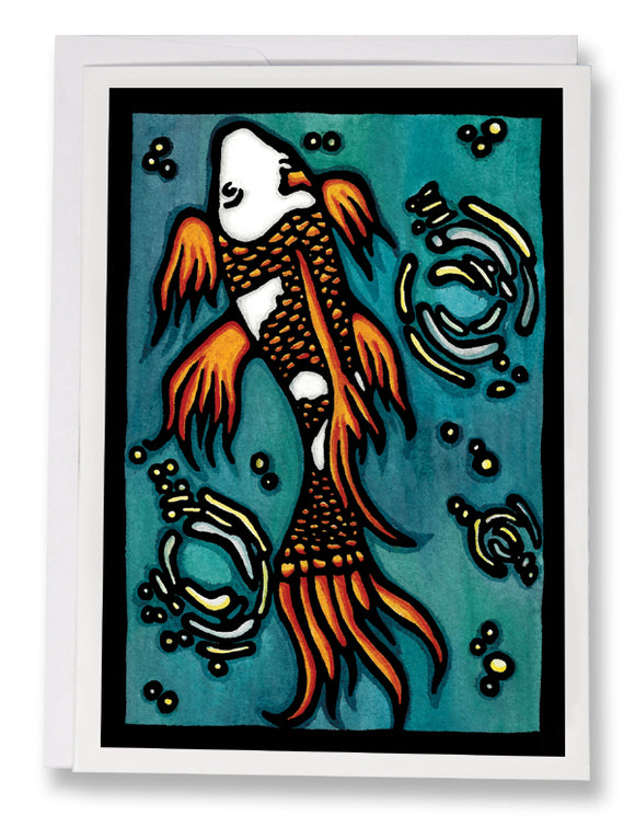 SA102: Koi - Sarah Angst Art Greeting Cards, Giclee Prints, Jewelry, More