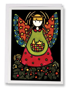 SA107: Angel - Sarah Angst Art Greeting Cards, Giclee Prints, Jewelry, More