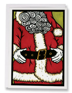 SA108: Santa's Belt - Sarah Angst Art Greeting Cards, Giclee Prints, Jewelry, More