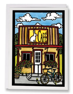 SA113: Out To Lunch - Sarah Angst Art Greeting Cards, Giclee Prints, Jewelry, More