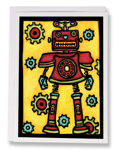 Robot - Sarah Angst Art Greeting Cards, Giclee Prints, Jewelry, More
