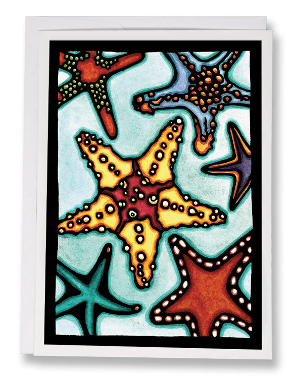 SA146: Starfish - Sarah Angst Art Greeting Cards, Giclee Prints, Jewelry, More