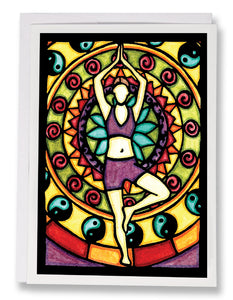 Yoga - 148 - Sarah Angst Art Greeting Cards, Giclee Prints, Jewelry, More