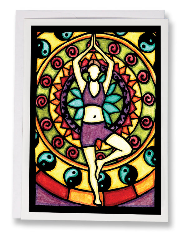SA148: Yoga - Sarah Angst Art Greeting Cards, Giclee Prints, Jewelry, More