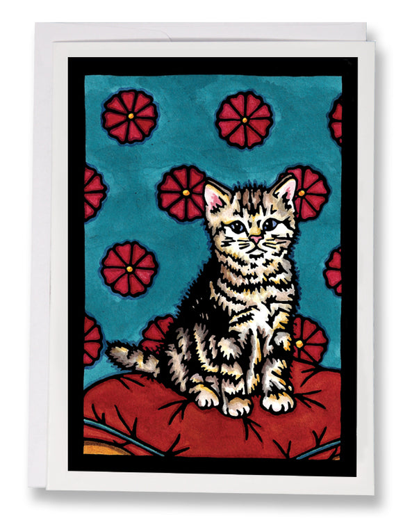 SA151: Kitten - Sarah Angst Art Greeting Cards, Giclee Prints, Jewelry, More