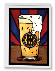 Cheers Beer - 153 - Sarah Angst Art Greeting Cards, Giclee Prints, Jewelry, More