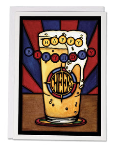 Birthday Beer - 158 - Sarah Angst Art Greeting Cards, Giclee Prints, Jewelry, More